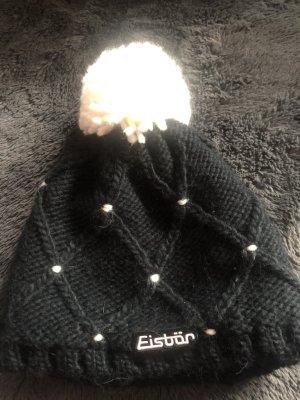 Eisbär Bonnet à pompon noir-blanc
