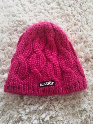 Eisbär Sombrero de punto rojo frambuesa