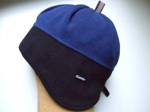 EISBÄR Mütze Fleecemütze blau schwarz Reflektor - 30er Design