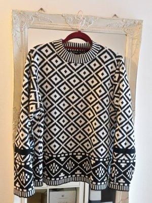 Eisbär Norwegian Sweater black-white