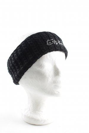 Eisbär Earmuff black cable stitch casual look