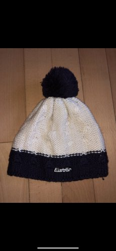 Eisbär Knitted Hat dark violet-natural white