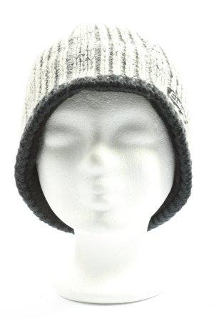 Eisbär Cappello a maglia grigio chiaro punto treccia stile casual
