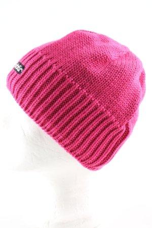 Eisbär Cappello a maglia rosa punto treccia stile professionale