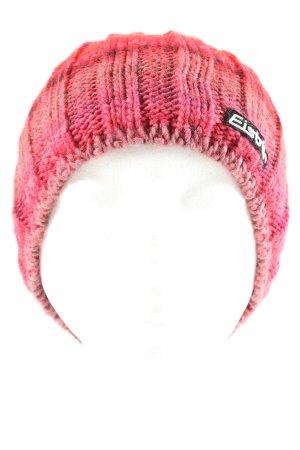 Eisbär Strickmütze pink-rot meliert Casual-Look