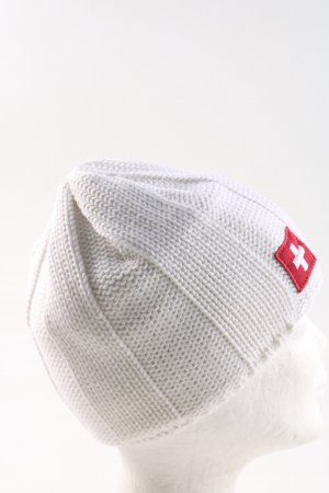 Eisbär Knitted Hat white cable stitch casual look