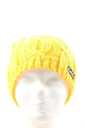 Eisbär Czapka z dzianiny bladożółty W stylu casual