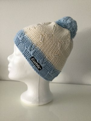 Eisbär Knitted Hat white-azure mixture fibre