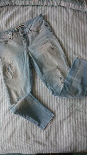 Noisy May Jeans a zampa d'elefante azzurro