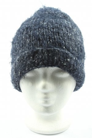 Eisglut Chapeau en tricot bleu moucheté style décontracté