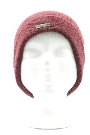 Eisglut Sombrero de punto rojo punto trenzado look casual
