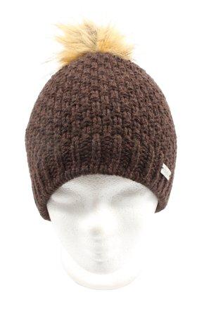 Eisglut Sombrero de punto marrón look casual