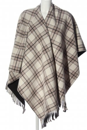 eivissa Poncho natural white-brown check pattern casual look