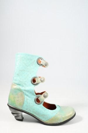 Eject Cut Out Booties turquoise casual look