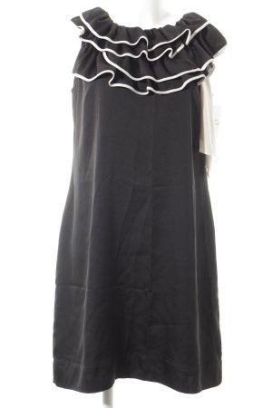 Ekol Midikleid schwarz-weiß Elegant