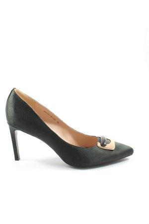 Ekonika Zapatos de punta verde estilo «business»