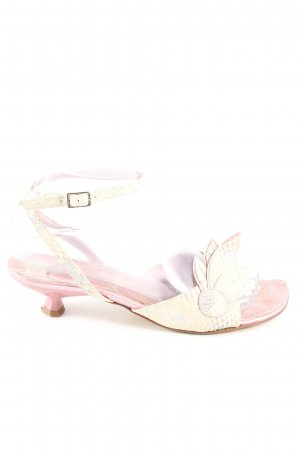 Ekos Riemchen-Sandaletten creme-pink Allover-Druck Casual-Look