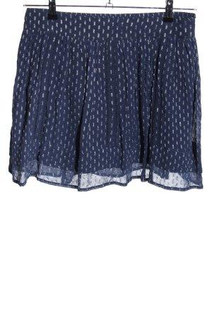 Eksept Faltenrock blau-weiß abstraktes Muster Elegant
