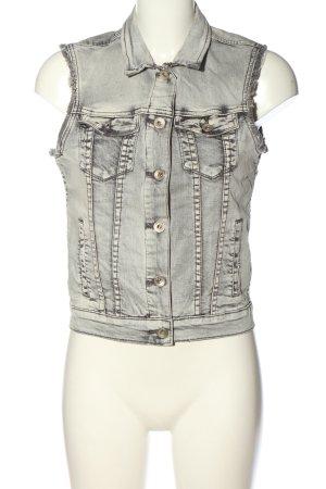 Eksept Gilet en jean blanc cassé-noir style décontracté