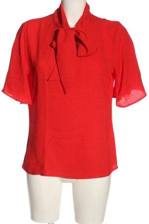 Eksept Kurzarm-Bluse rot Elegant