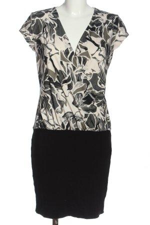 Eksept Kurzarmkleid weiß-schwarz abstraktes Muster Casual-Look