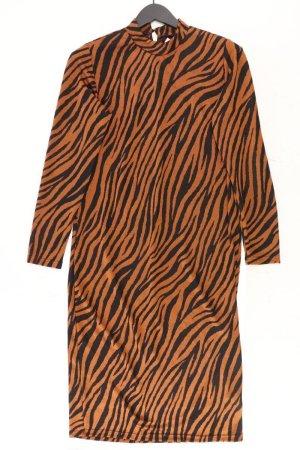 eksept Langarmkleid Größe L mit Tierdruck neuwertig braun aus Polyester