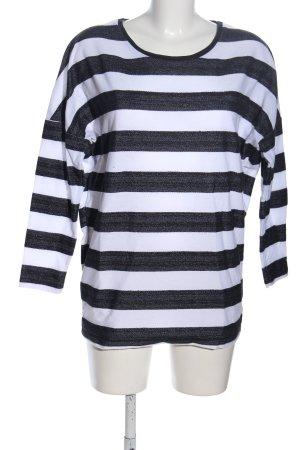 Eksept Oversized Shirt schwarz-weiß Streifenmuster Casual-Look