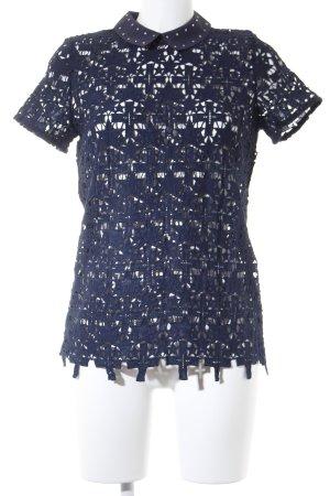 Eksept Strickshirt dunkelblau Casual-Look