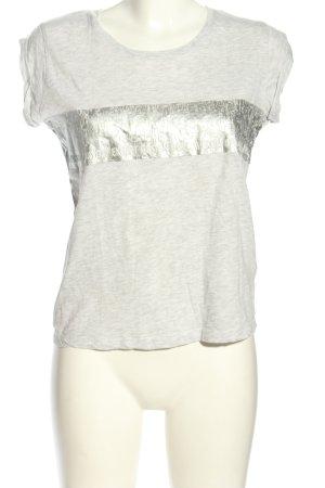 Eksept Boothalsshirt lichtgrijs-zilver gestippeld casual uitstraling