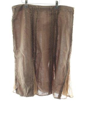 El Corte Ingles Faltenrock bronzefarben Casual-Look