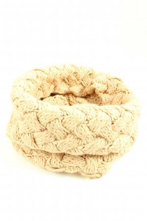 El Corte Ingles Tube Scarf natural white cable stitch casual look