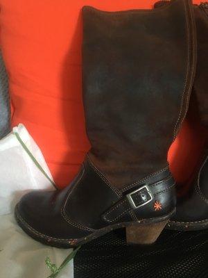 El Naturalista Wide Calf Boots dark brown-brown