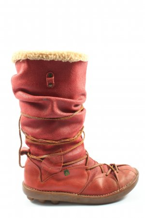 El Naturalista Slouch Stiefel rot Casual-Look