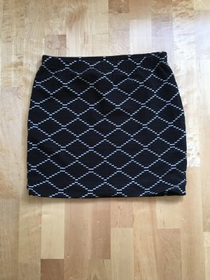 Montego Falda de tubo negro-blanco
