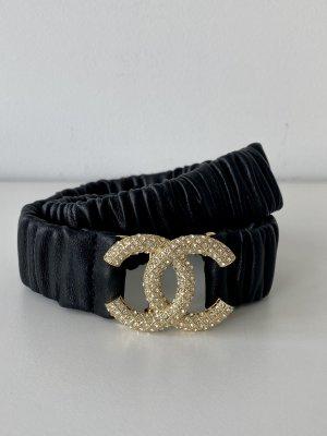Chanel Pasek do założenia w talii czarny-złoto