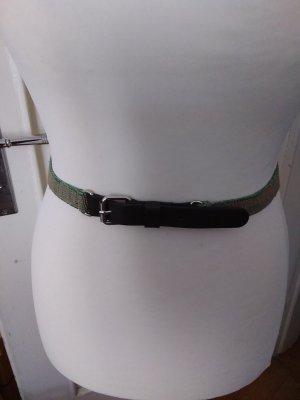 Elastischer Gürtel mit Leder