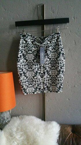 Amisu Stretch Skirt anthracite-natural white mixture fibre