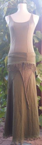 Elben Long Bohemian Goa Luna Magical Fairy Elfen Gypsy Pixie Skirt Green SIZE: S
