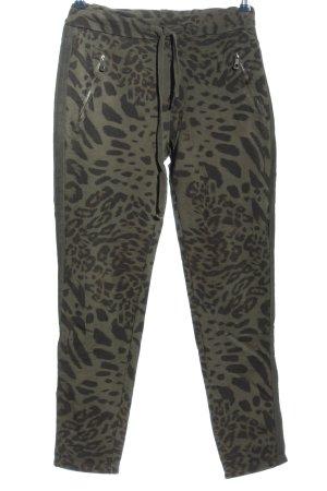 elbflorenz Sweat Pants khaki-brown animal pattern casual look