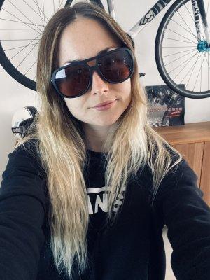 Electric Stacker Kwadratowe okulary przeciwsłoneczne czarny-brązowy