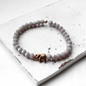 Elefant • Armband Perlen   Armschmuck