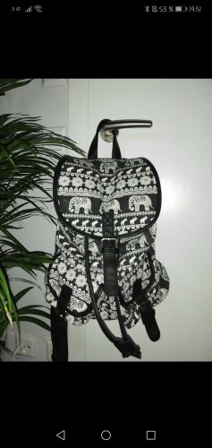 Backpack Trolley white-black
