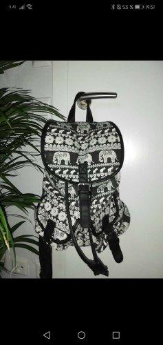 Carrito de mochila blanco-negro
