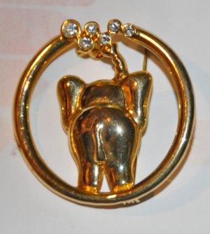 Elefanten Stecker mit bunten Steinen  Zirkonia Modeschmuck