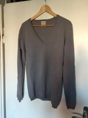 Zara Kaszmirowy sweter szary