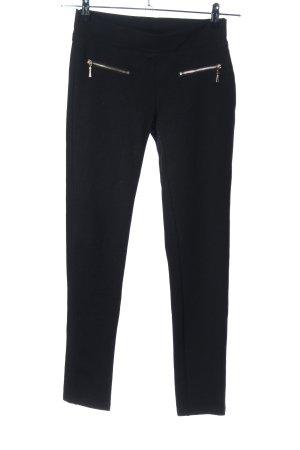 Elegan's Pantalone elasticizzato nero stile professionale