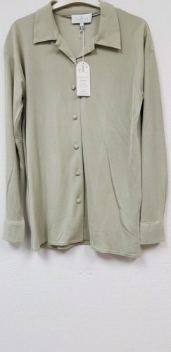 ae elegance Silk Blouse sage green silk