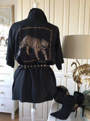 Elegance Bluse Animaldruck schwarz camel Gr. 42