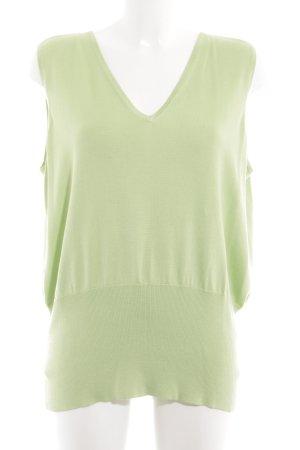Elégance Feinstrickpullunder grün Casual-Look