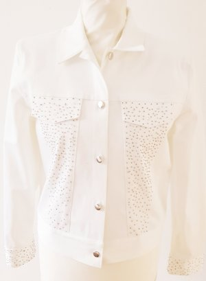 ae elegance Denim Jacket white